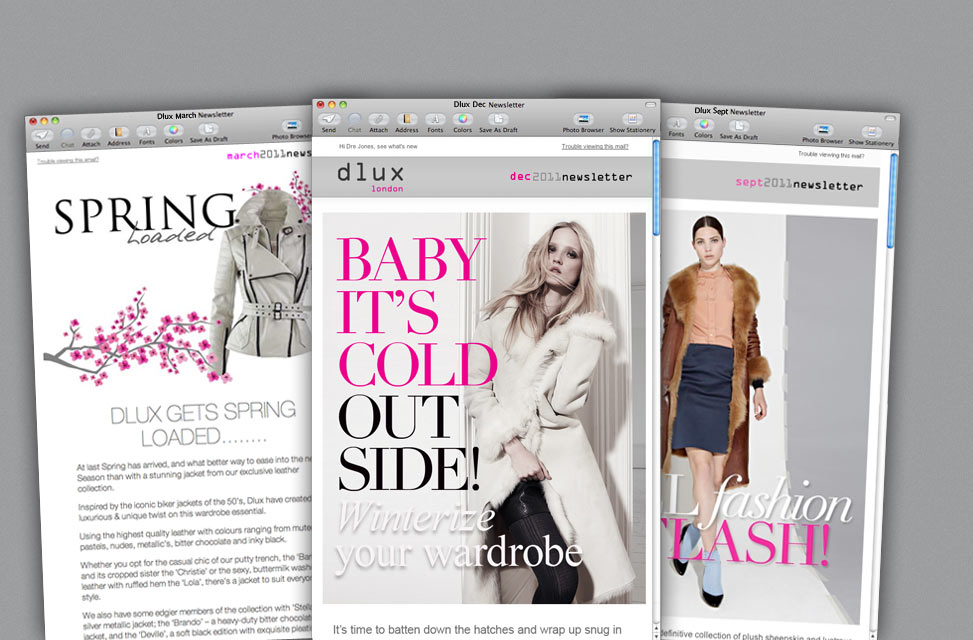 Graphic Design and Newsletter Campaigns for Fashion Label