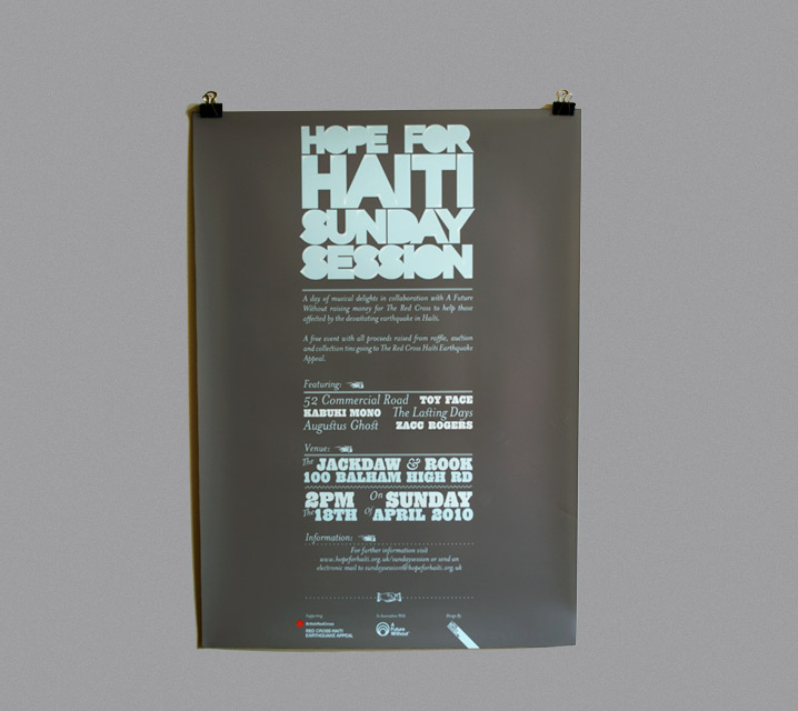 Poster Designs for Haiti Charity