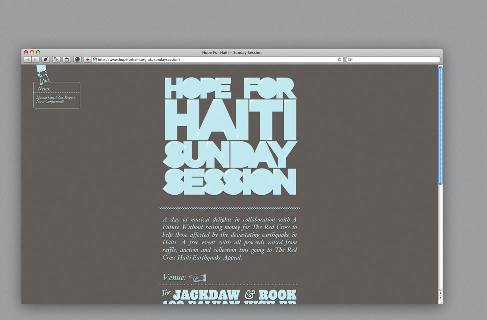 Web Design for Haiti Charity