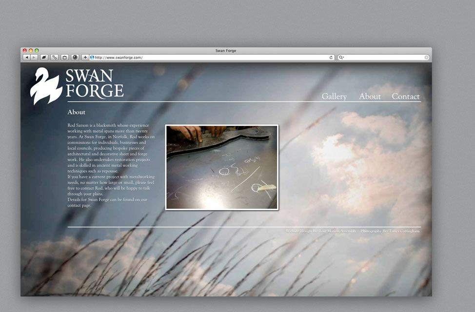 Website Design for Blacksmith